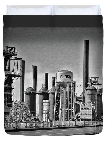 Sloss Furnaces Towers Duvet Cover