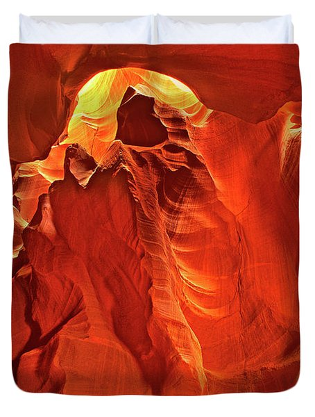 Slot Canyon Formations In Upper Antelope Canyon Arizona Duvet Cover