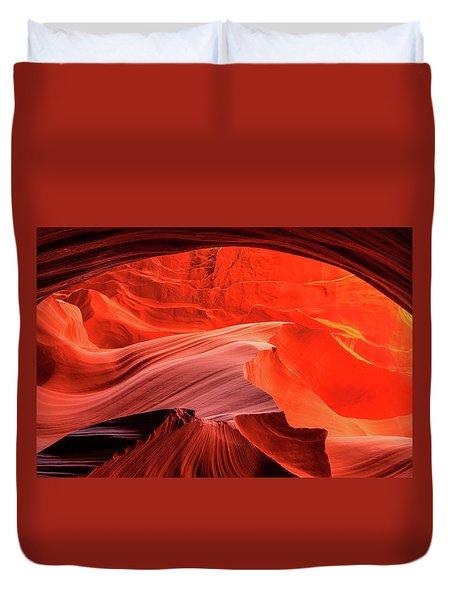 Slot Canyon Waves 1 Duvet Cover