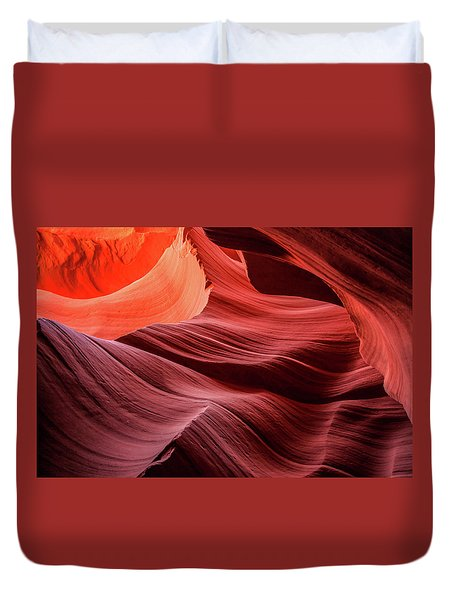 Slot Canyon Waves 2 Duvet Cover