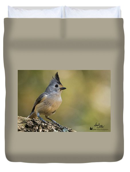 Small Titmouse Duvet Cover