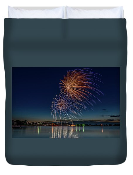 Small Town 4th Duvet Cover