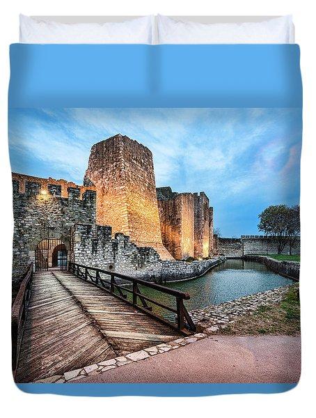 Smederevo Fortress Gate And Bridge Duvet Cover