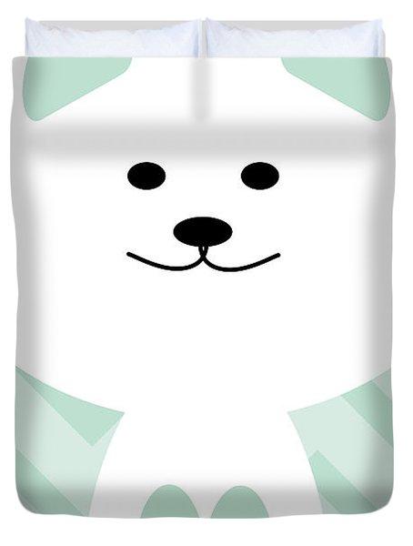 Smiling Cat Boy Nursery Art Duvet Cover