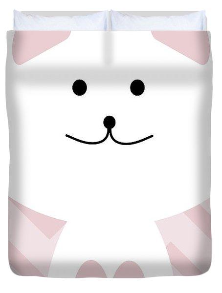 Smiling Cat Girl Nursery Art Duvet Cover
