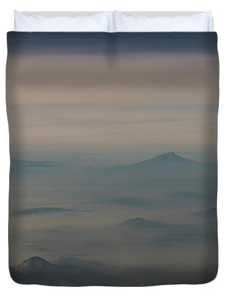 Duvet Cover featuring the photograph Smoke From A Distant Fire by Alex Lapidus