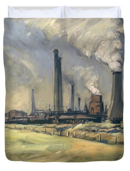 Smoke Stacks Prins Maurits Mine Duvet Cover