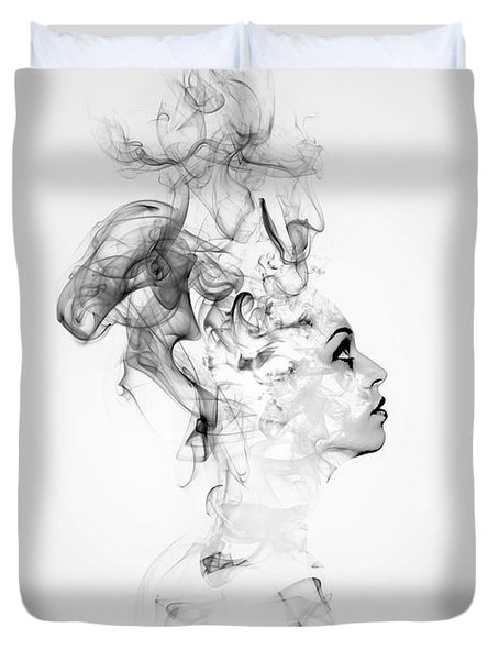 Smoke Woman Duvet Cover
