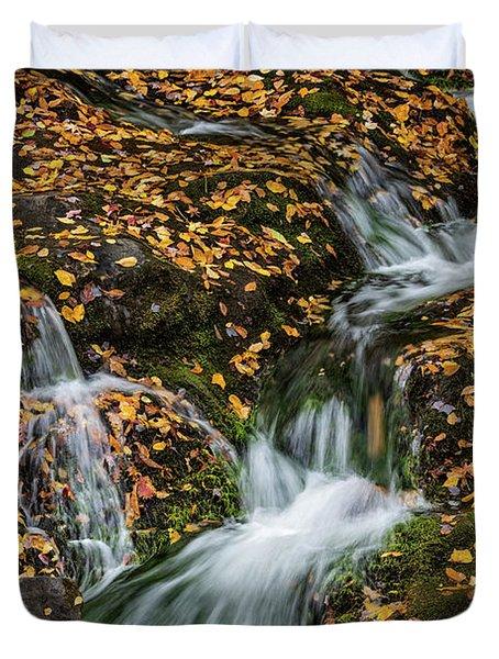 Smokey Mountain Falls Duvet Cover