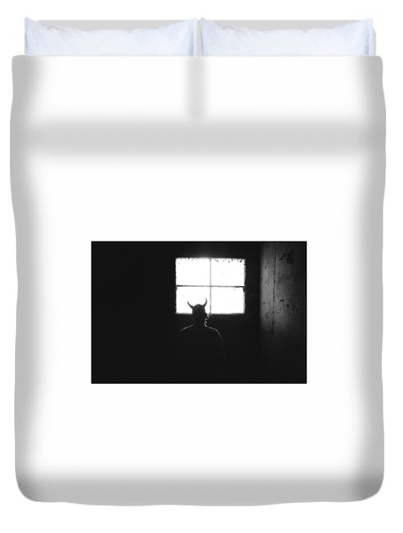 Duvet Cover featuring the photograph Smoking Lounge by Carl Young