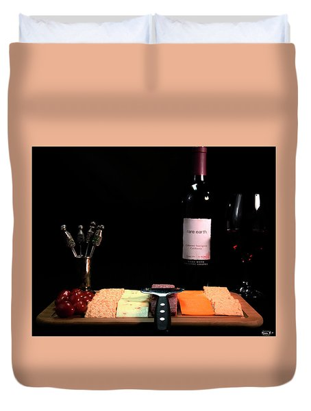 Snacks Are Served  Duvet Cover