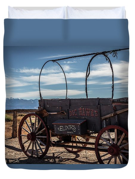 Duvet Cover featuring the photograph Snake Oil by David Morefield