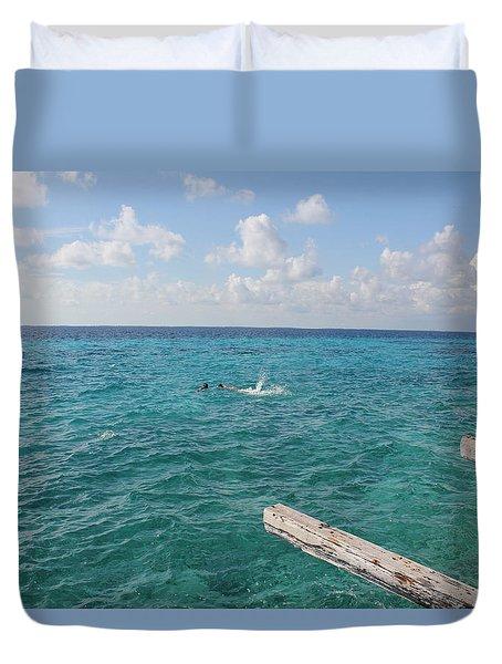 Snorkeling Duvet Cover