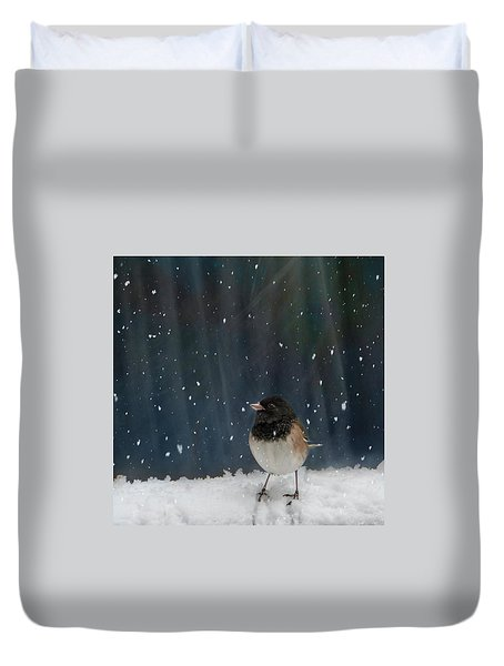 Snow Card Duvet Cover