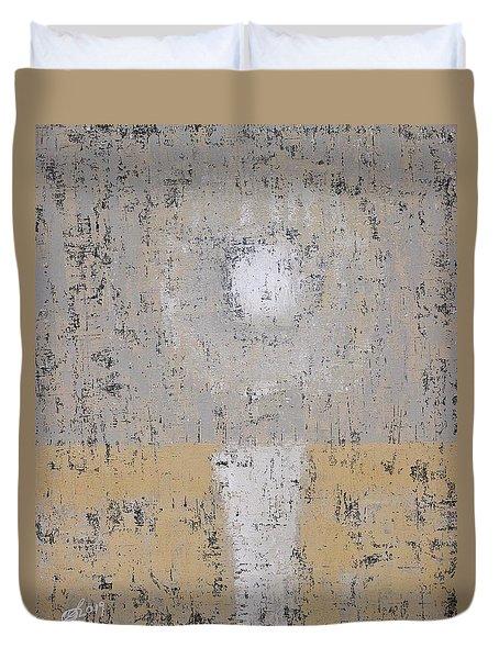 Snow Moon Original Painting Duvet Cover