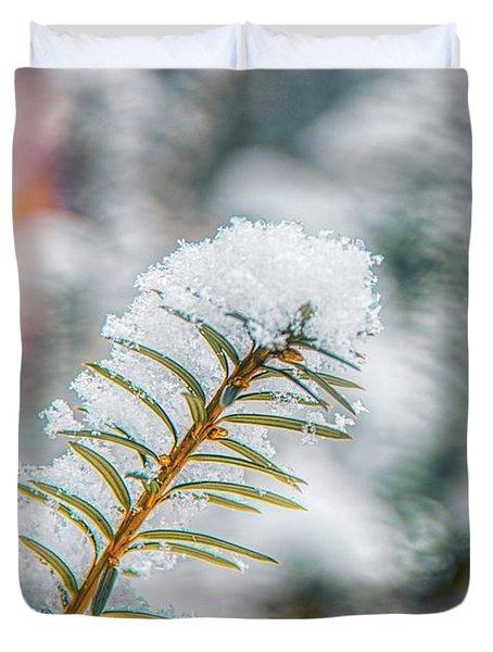 Snow Needle Duvet Cover