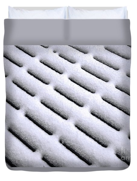 Duvet Cover featuring the photograph Snow Patterns by Jon Burch Photography