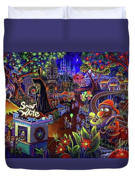 Snow White Amusement Park Duvet Cover