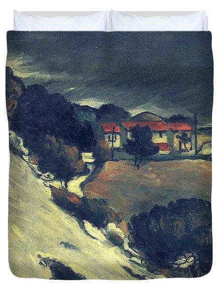 Snowmelt In L Estaque 1870 Duvet Cover