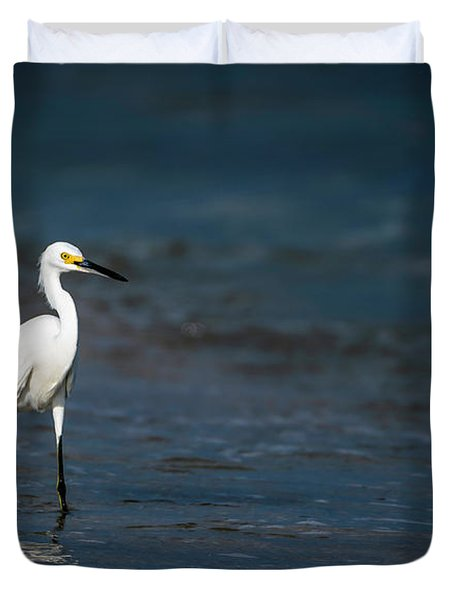 Snowy In The Surf Duvet Cover
