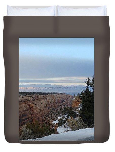 Snowy Sunset Duvet Cover