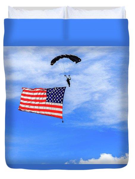 Socom Flag Jump Duvet Cover
