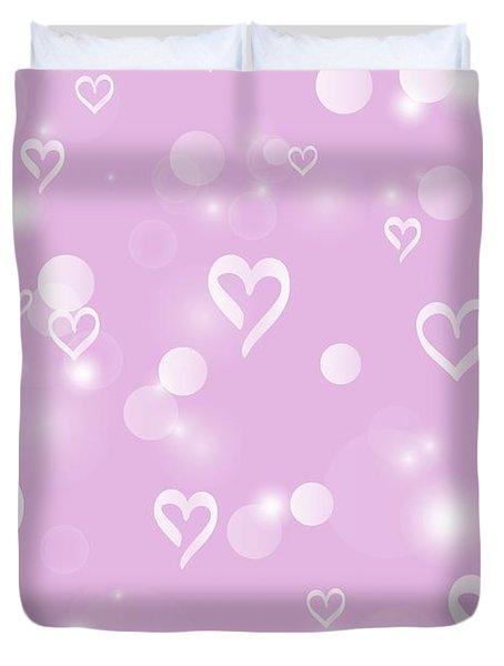 Soft Hearts Duvet Cover
