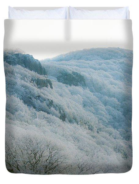 Soft Hoarfrost Duvet Cover