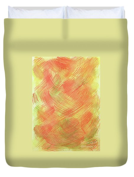 Soft Orange Colors 2 Duvet Cover