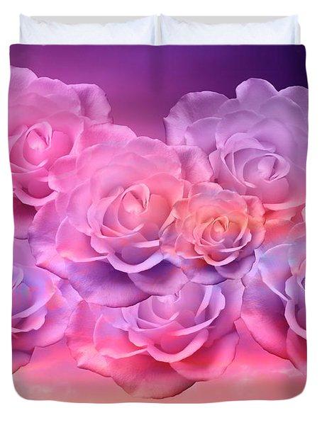 Soft Roses Art Work Duvet Cover