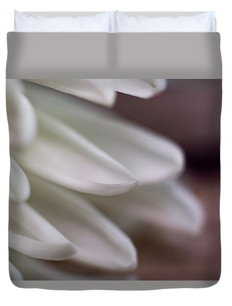 Soft White Petals-1 Duvet Cover