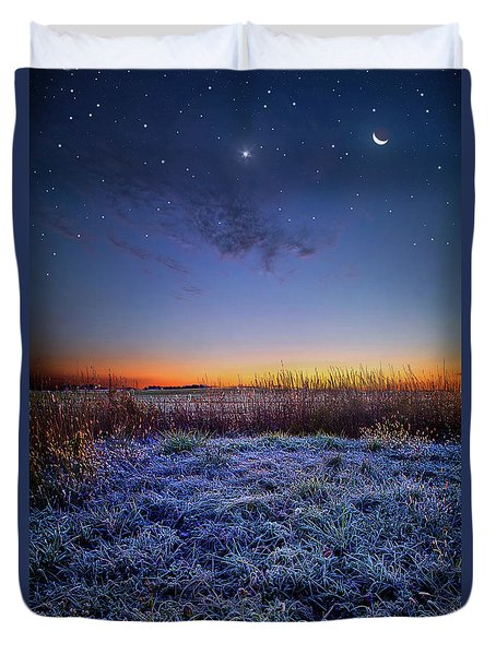Duvet Cover featuring the photograph Softly Spoken Prayers by Phil Koch