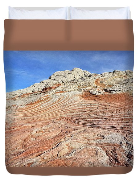 Solid Waves Pano Duvet Cover