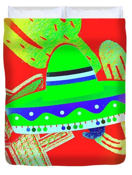 Sombrero Salsa Duvet Cover