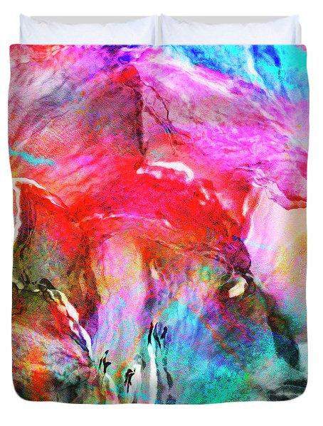 Somebody's Smiling - Custom Version 2 - Abstract Art Duvet Cover