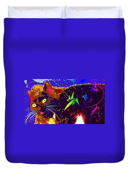 Someone Found The Catnip Duvet Cover