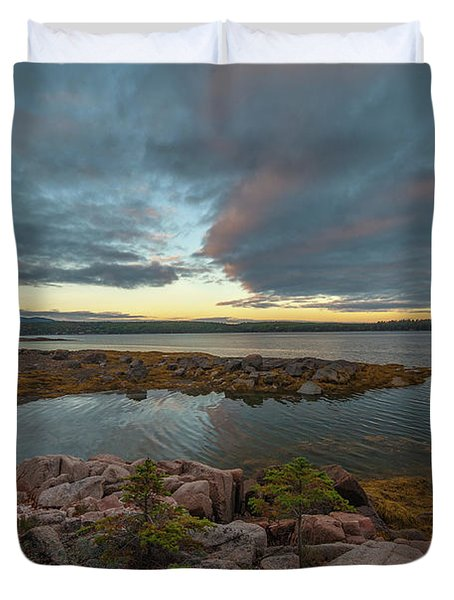 Somes Sound Sunset Duvet Cover