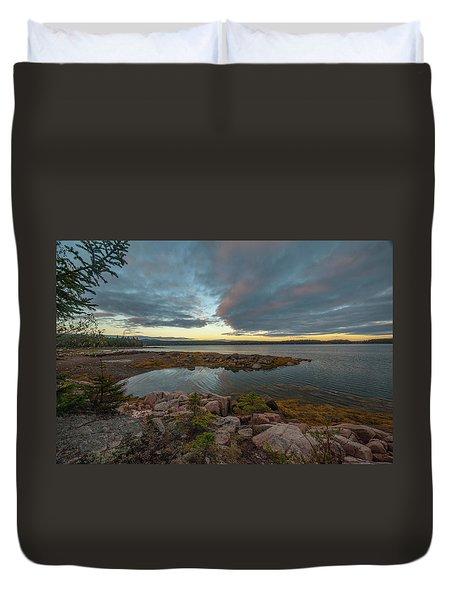 Somes Sound Sunset Duvet Cover