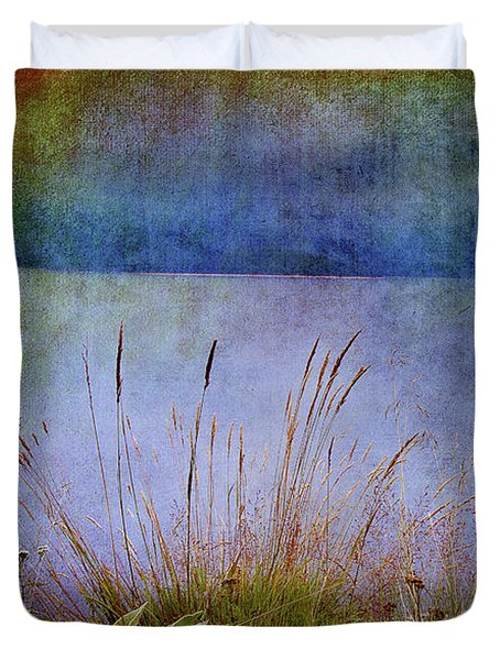 Duvet Cover featuring the photograph Somewhere Far Away by Milena Ilieva