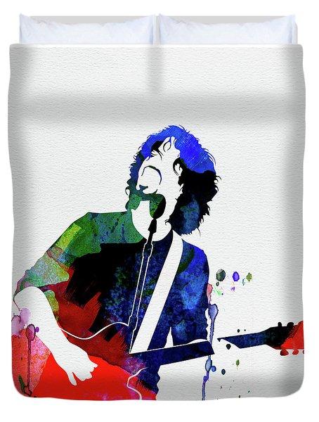 Soundgarden Watercolor Duvet Cover