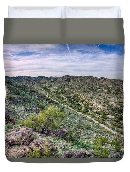 South Mountain Landscape Duvet Cover