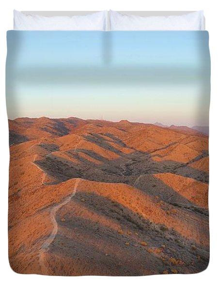 South Mountain Sunrise Duvet Cover