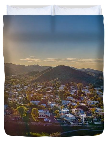 South Mountain Sunset Duvet Cover