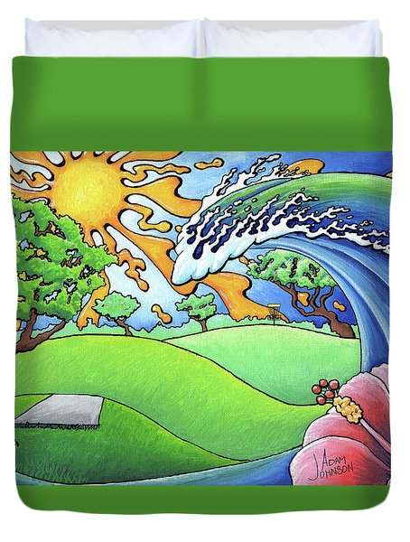 South Texas Disc Golf Duvet Cover