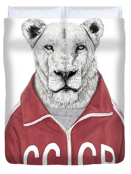 Soviet Lion Duvet Cover