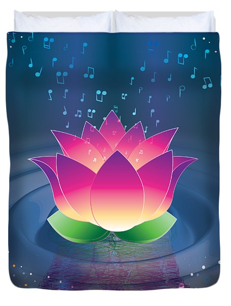 Space Lotus Duvet Cover