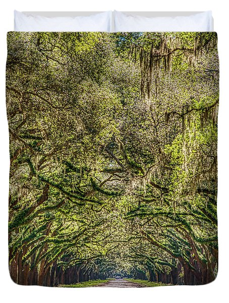 Spanish Moss Tree Tunnel Duvet Cover