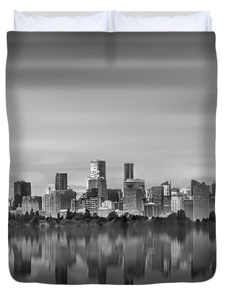 Special View Of Downtown Vancouver Duvet Cover