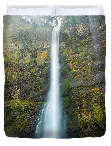 Spectacular Multnomah Falls Duvet Cover