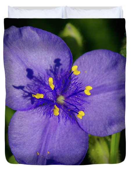 Spiderwort Flower Duvet Cover